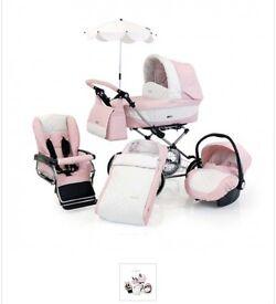 Pink BabyStyle Prestige Pram
