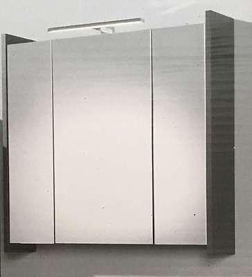 Spiegelschrank Elegance anthrazit/weiss mit LED Beleuchtung