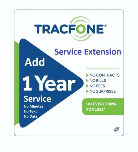 TracFone Service Extension 1 Year / 365 Days - Direct Load, Support All Phones