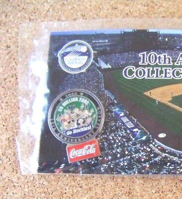 2002 Colorado Rockies Pin  8 Coca Cola King Soopers 10Th Anniversary Year