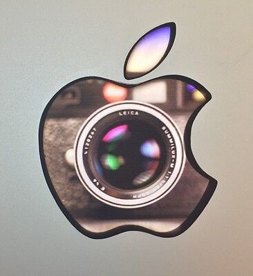 GLOWING PHOTOGRAPHER CAMERA LENS Apple MacBook Pro Air Mac Laptop Logo DECAL  for sale  Shipping to India