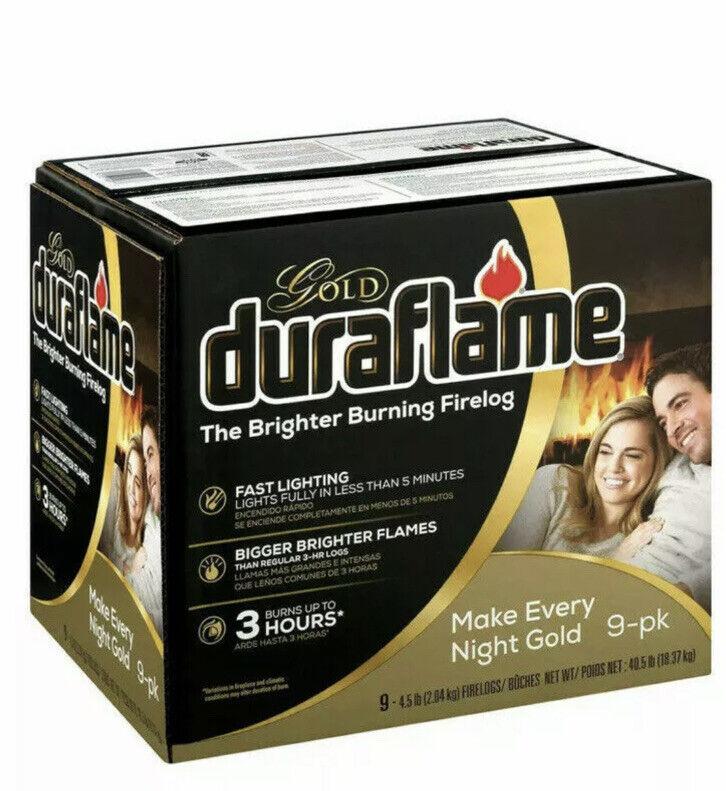 Duraflame Gold 9 Pack Brighter Burning 3-hr Firelog For Fireplace Firepit Burn