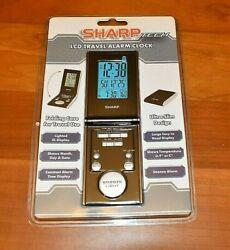 SHARP LCD TRAVEL ALARM CLOCK BRAND NEW FREE SHIPPING