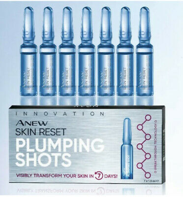 Avon Anew Skin Reset Plumping Shots 7x1.3ml with Protinol - New & Sealed