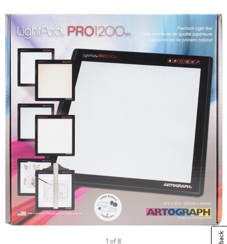 "Lightpad Pro 1200 Led Light Box W/ 2 Padpucks-12""X12"""