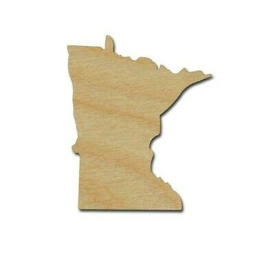 Minnesota State Shape Unfinished Wood Cutouts DIY Crafts Variety of sizes - Diy Wood Crafts