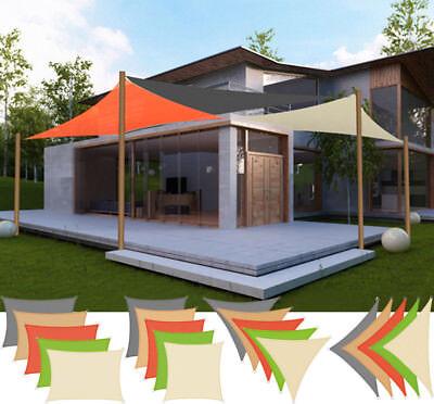 Sonnensegel Sonnendach UV Schutz Rechteck Quadrat Dreieck PES HDPE Garten #607