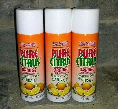 Pure Citrus Air Freshener - 3 - Pure Citrus Orange Air Freshener Home Office 100%Natural Non-Aerosol  4 oz
