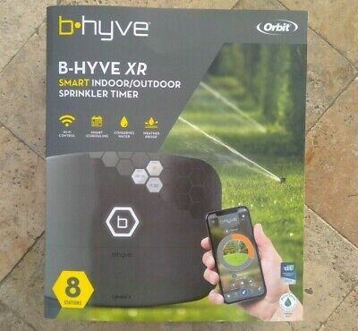 🌟🎈 ORBIT B-HYVE XR 8 Station SMART WIFI Indoor / Outdoor SPRINKLER TIMER 57985