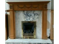 Gas fire and marble surrond