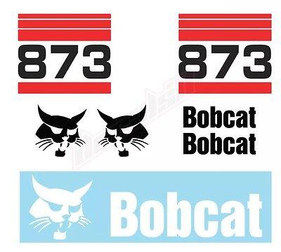 Bobcat 873 Skid Steer Set Vinyl Decal Sticker - Free Shipping