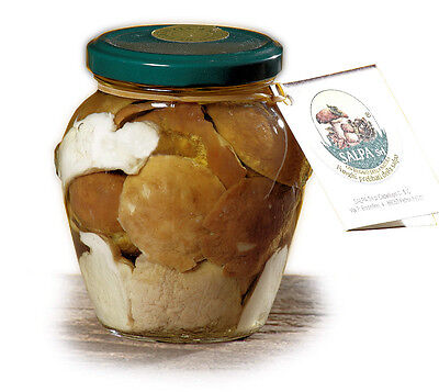 FUNGHI PORCINI in olio di oliva - Produzione Artigianale - nr. 6 vasi da 314 gr.
