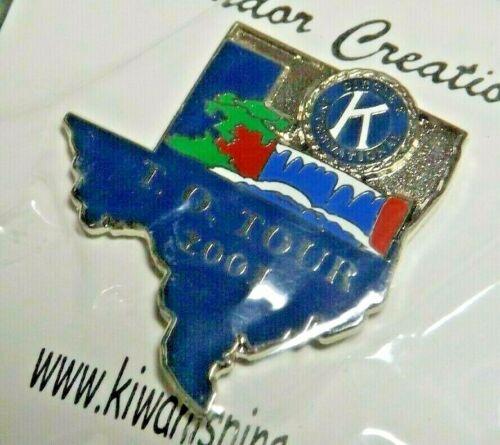 2001 Texas Oklahoma District Kiwanis International Lapel Pin T. O. Tour
