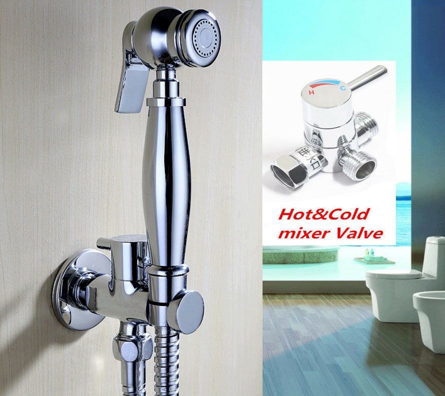 Concealed Install Hot and Cold Mixer Faucet with Handheld Bidet Diaper Sprayer