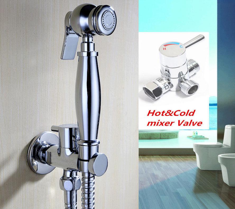 Bathroom Douche Bidet Spray Shattaf Handheld Muslim Shower Head Brass Toilet Kit