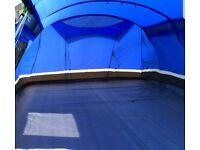Kalahari 10 tent with 2 x porch one has slight rip carpet and footprint
