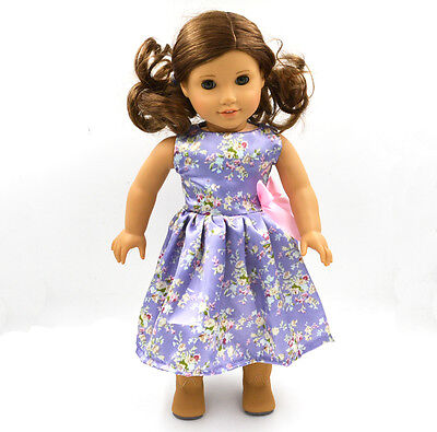 "2015 For American Girl Hot Handmade Princess Purple dress 18""Doll Clothes on Rummage"