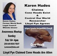 Discover Karen Hudes Feb 14 4pm Whitespot RSVP 250-649-9836