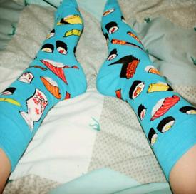 Size 5 Ladies/womens Sushi Socks! free postage