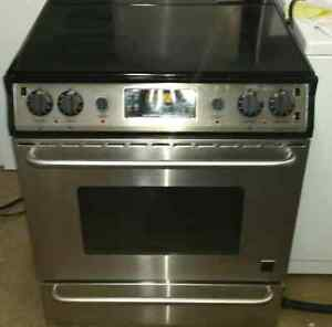 Frigidaire gallery stainless steel slide in stove