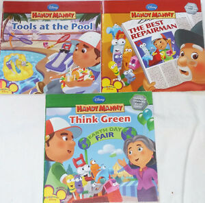 Qty 3 x Disney Handy Manny Soft Cover Books London Ontario image 1