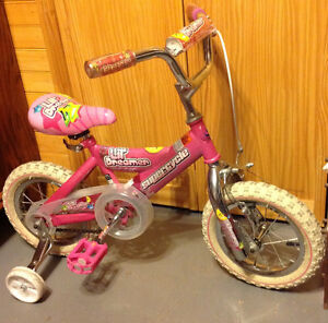 Little Girl's Bike with Training Wheels
