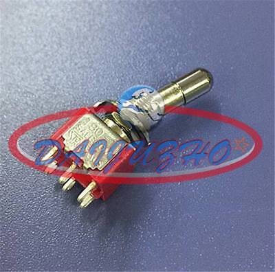 5pcs Toggle Switch Mini T8013-lk Locking Lever 6pin On-on 2position Spdt