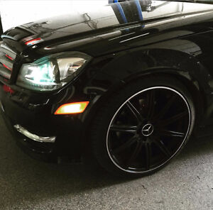 MERCEDES  18  INCH RIMS AND TIRES