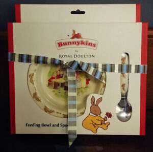 Baby Gift Royal Doulton Bunnykins Plate & Spoon Box Set