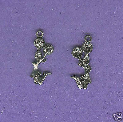 100 wholesale lead free pewter ballerina charms 1189