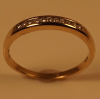 10K Gold Semi Eternal Ring with 11 Diamonds Stamped and Tested