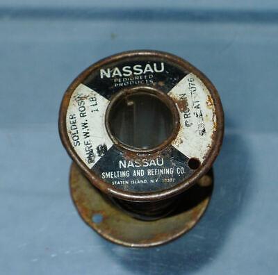 Partial 1Lb Spool Western Electric Nassau White Water #7076 Solder, 4.7 oz