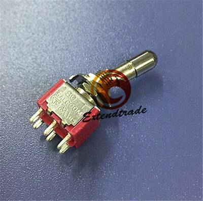 1pc Mini Toggle Switch Locking Lever 6pin On-on 2position Spdt T8013-lk