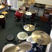 Private Drum Set Lessons at Barrie's Music Pro Education Centre
