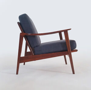 1950's Vintage Scandinavian Teak Lounge Chair Newly Refinished!!