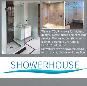 Frameless glass shower doors  $ 499.00