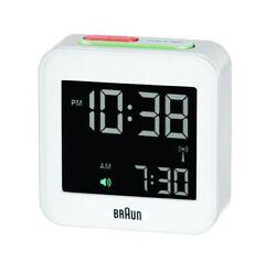 Braun LCD Quartz Alarm Clock - White BNC008