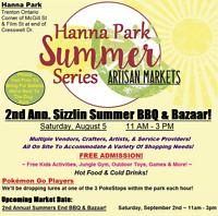 ️ 2nd Annual Sizzlin Summer BBQ & Vendor Bazaar! ️