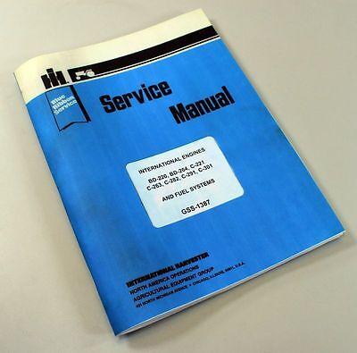 International Farmall C-221 C-263 Gas Engine Service Repair Manual Ih Lpg Lp