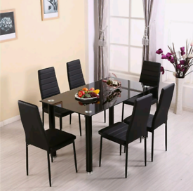 Dining table 6 chairs £185 new in box