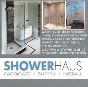 Frameless glass shower doors & shower enclosure $ 499.00Custom