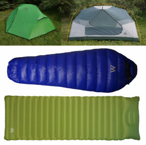 LIGHTWEIGHT TENTS, DOWN SLEEPING BAGS, INFLATABLE SLEEPING PADS