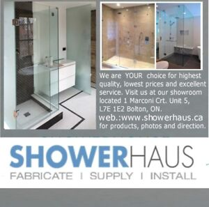 Frameless glass shower doors and shower enclosure $ 499.00 Custo