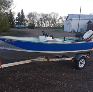 14ft aluminum boat with a 30hp Johnson motor