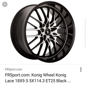 Konig Wheel use for trade for other !!