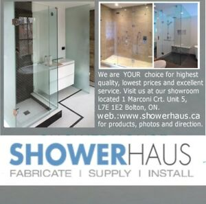Frameless glass shower doors and shower enclosure $ 499.00Cust