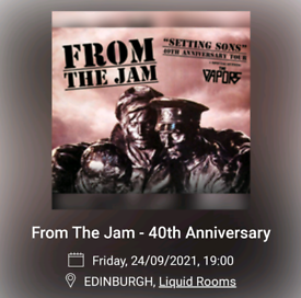 2 Tickets From the Jam for Edinburgh