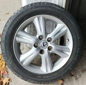 4 mags Toyota / lexus pneus d'hiver/winter (205-55-16)