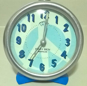 Blue Westclox Baby Ben Alarm Clock - Manual Wind Up