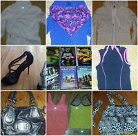 Purses, Lululemon clothes, Fast and Furious Dvd's